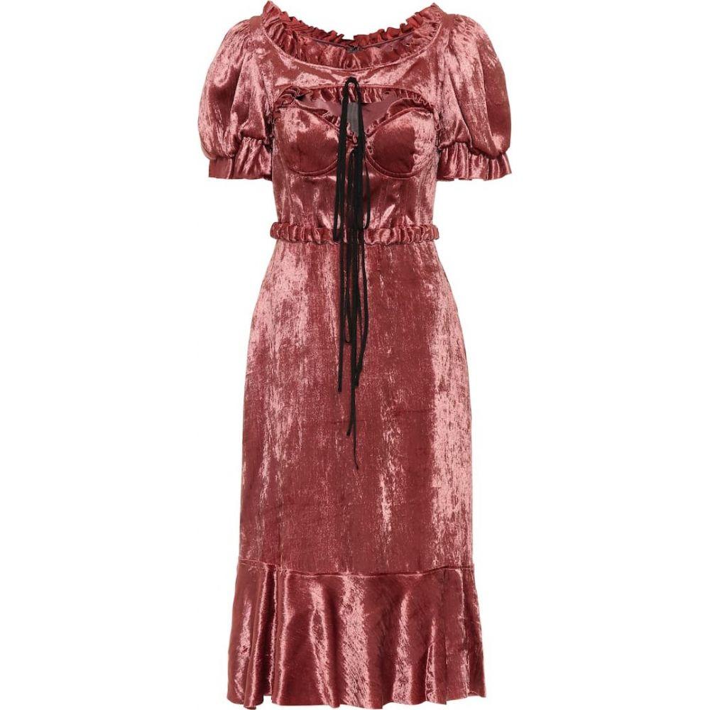 ブロック コレクション Brock Collection レディース ワンピース ミドル丈 ワンピース・ドレス【Petya velvet midi dress】Dark Pink
