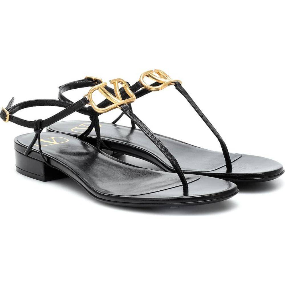 ヴァレンティノ Valentino レディース サンダル・ミュール シューズ・靴【Garavani VLOGO leather sandals】Nero