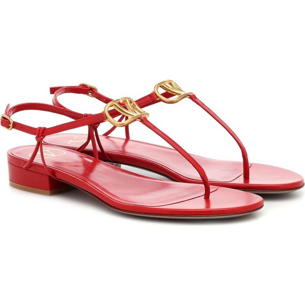 ヴァレンティノ Valentino レディース サンダル・ミュール シューズ・靴【Garavani VLOGO leather sandals】Rouge Pur