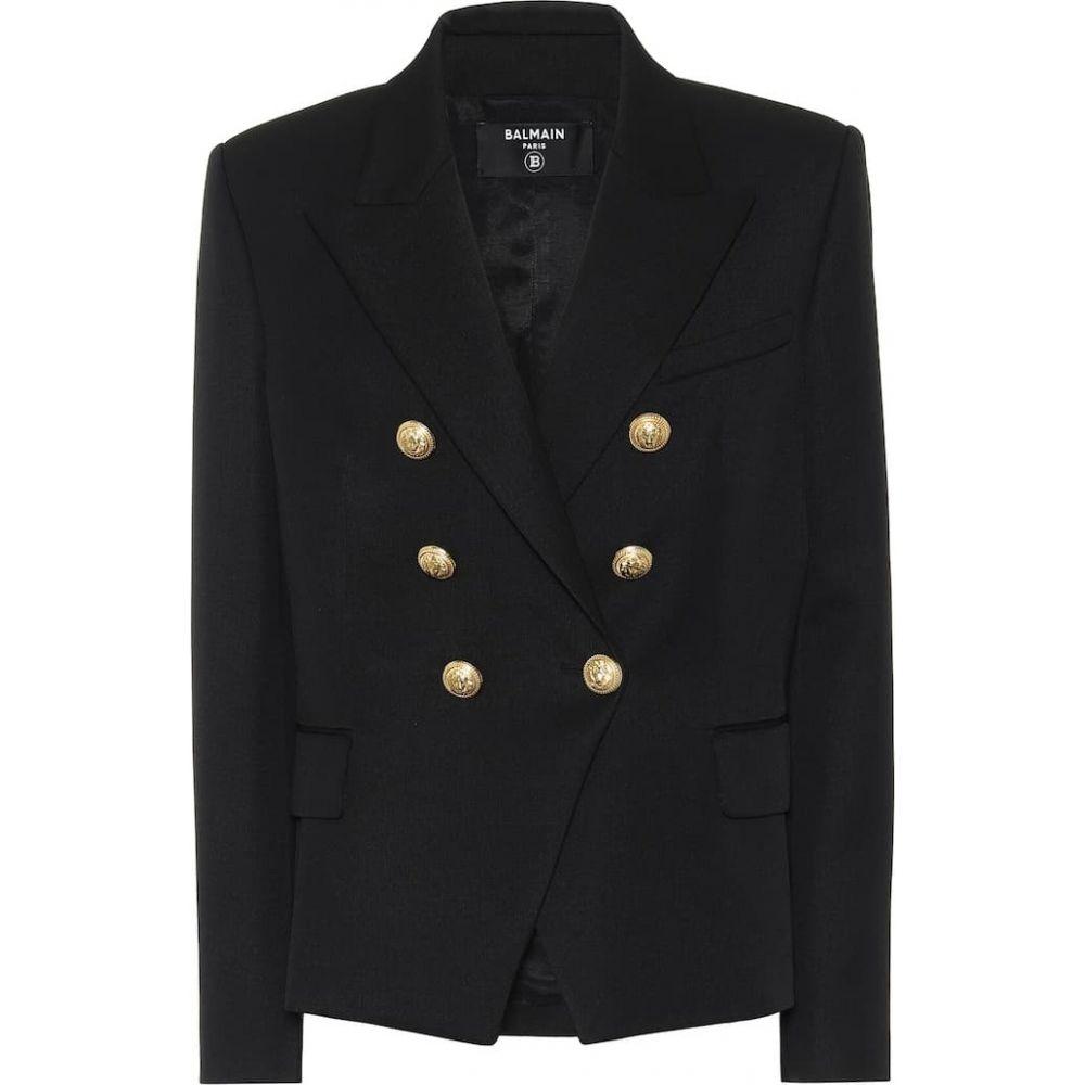 バルマン Balmain レディース スーツ・ジャケット アウター【Double-breasted wool blazer】Noir