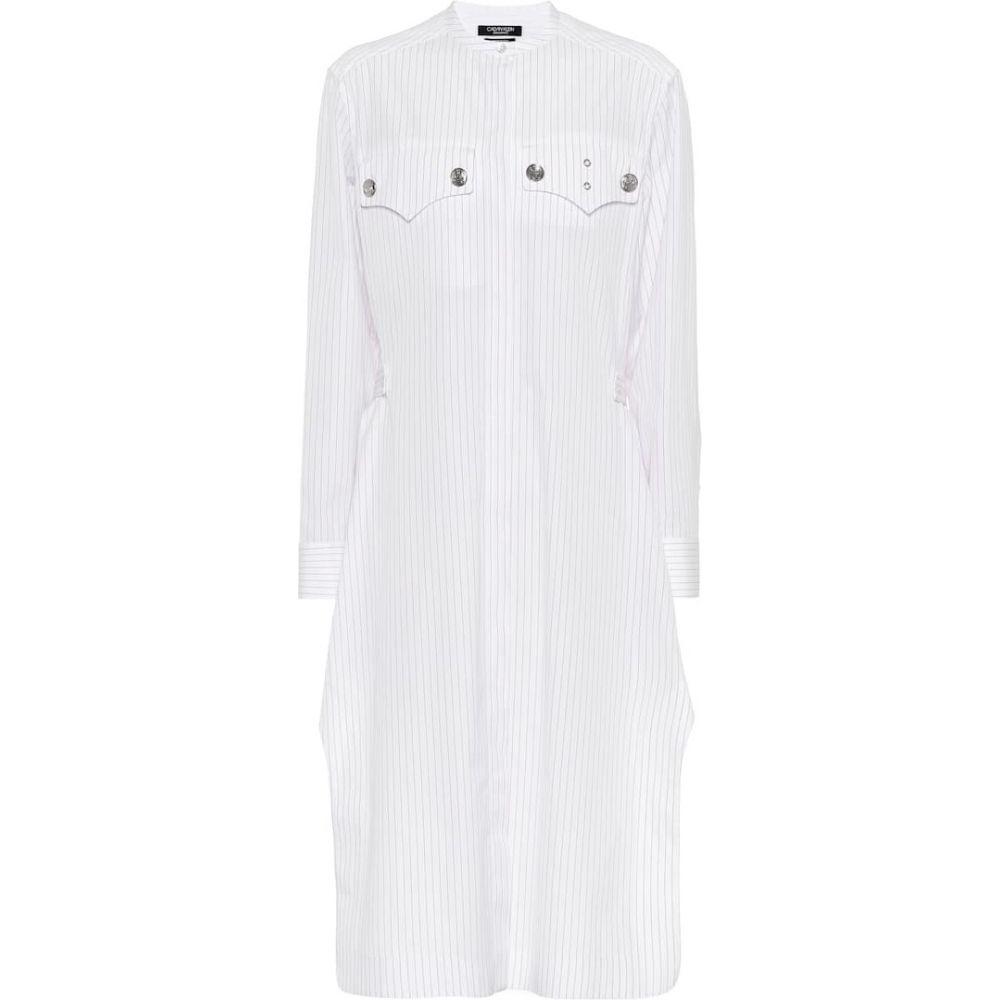 カルバンクライン Calvin Klein 205W39NYC レディース ワンピース シャツワンピース ワンピース・ドレス【Striped cotton shirt dress】White/Red