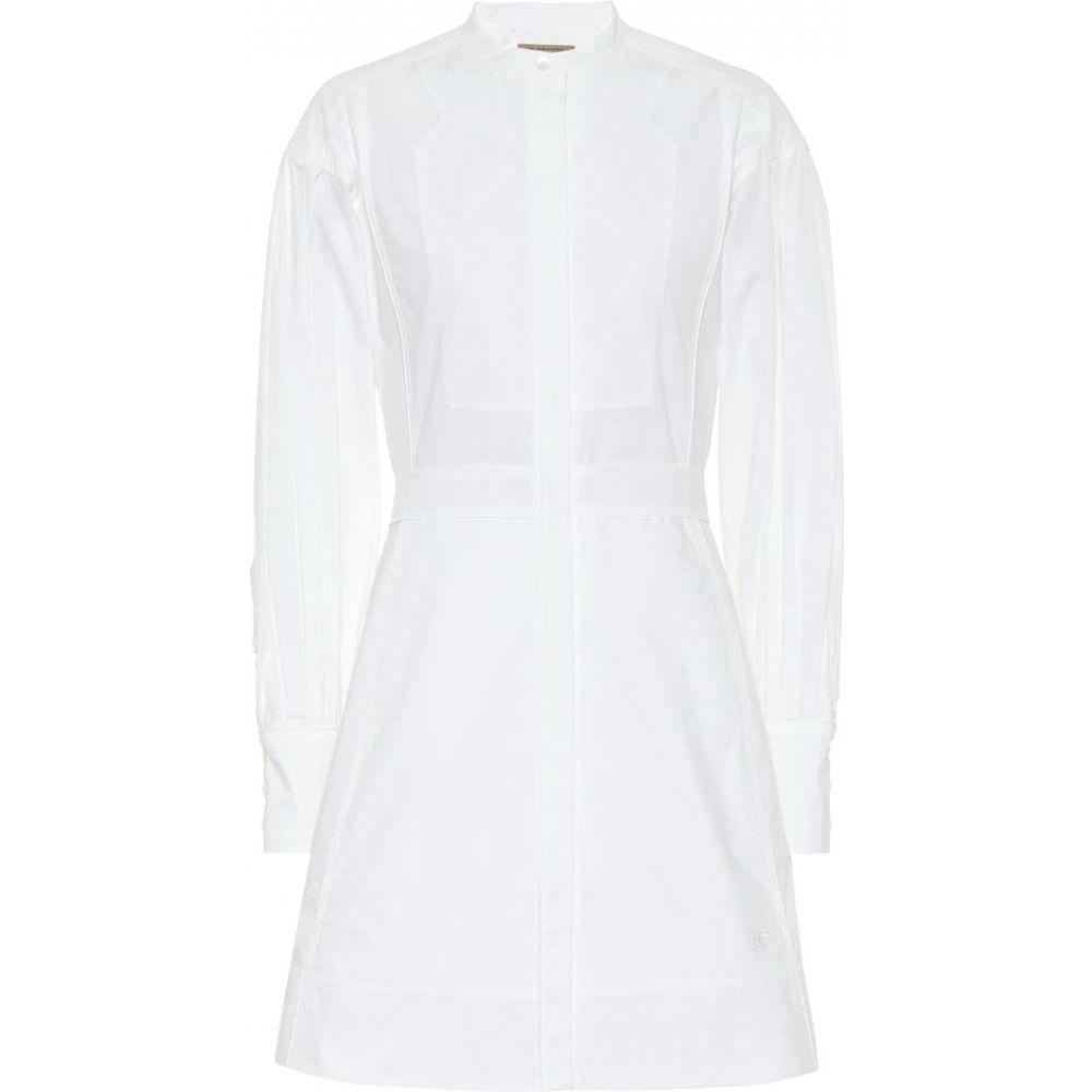 バーバリー Burberry レディース ワンピース シャツワンピース ワンピース・ドレス【Cotton shirt dress】Optic White
