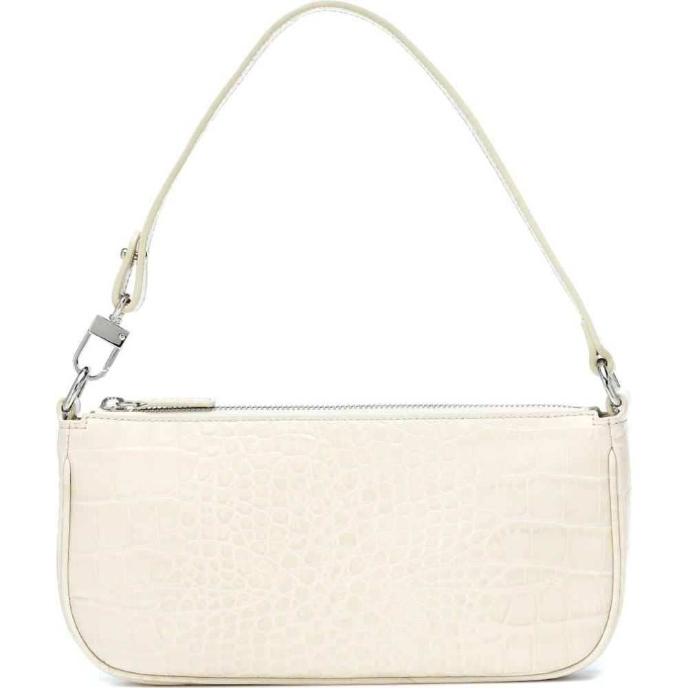 バイ ファー By Far レディース ショルダーバッグ バッグ【Rachel croc-effect leather shoulder bag】Cream Croco