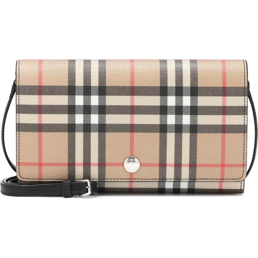 バーバリー Burberry レディース ショルダーバッグ バッグ【Vintage Check shoulder bag】beige black