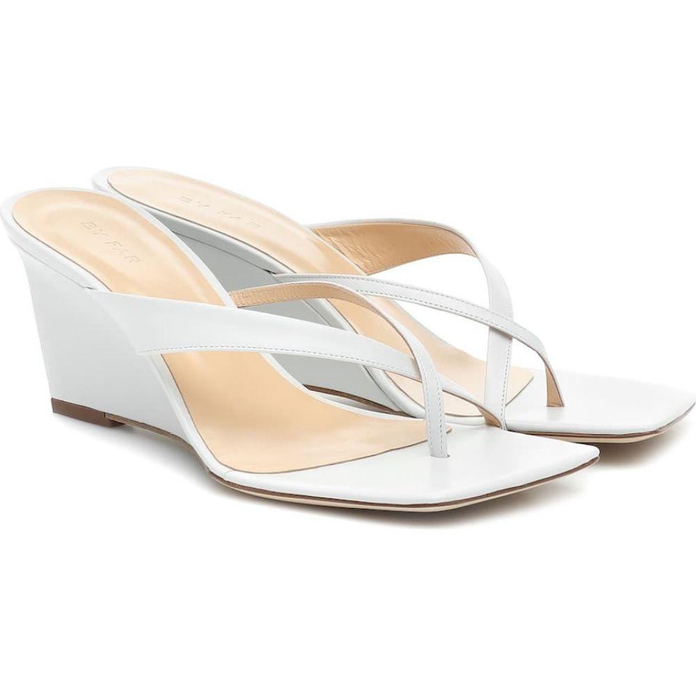 バイ ファー By Far レディース サンダル・ミュール ウェッジソール シューズ・靴【Theresa leather wedge sandals】White