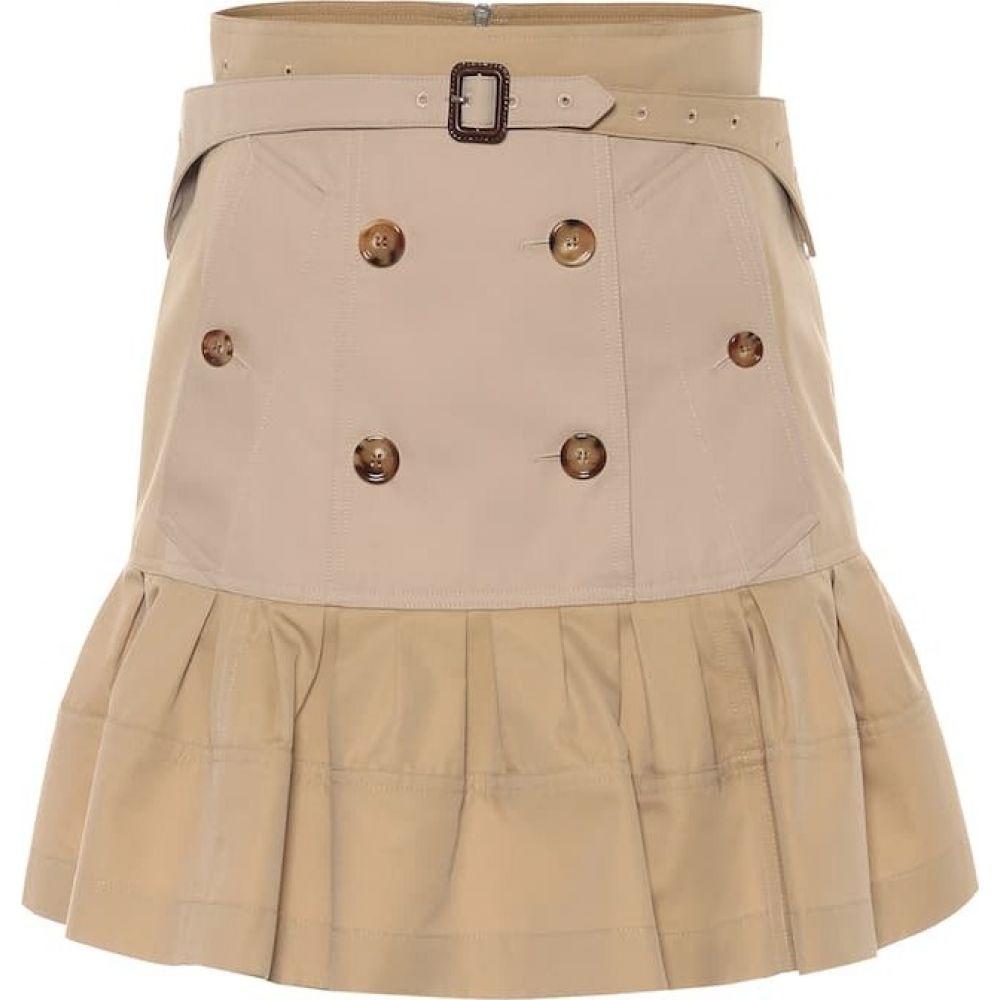 バーバリー Burberry レディース ミニスカート スカート【Suzy trench cotton miniskirt】Honey