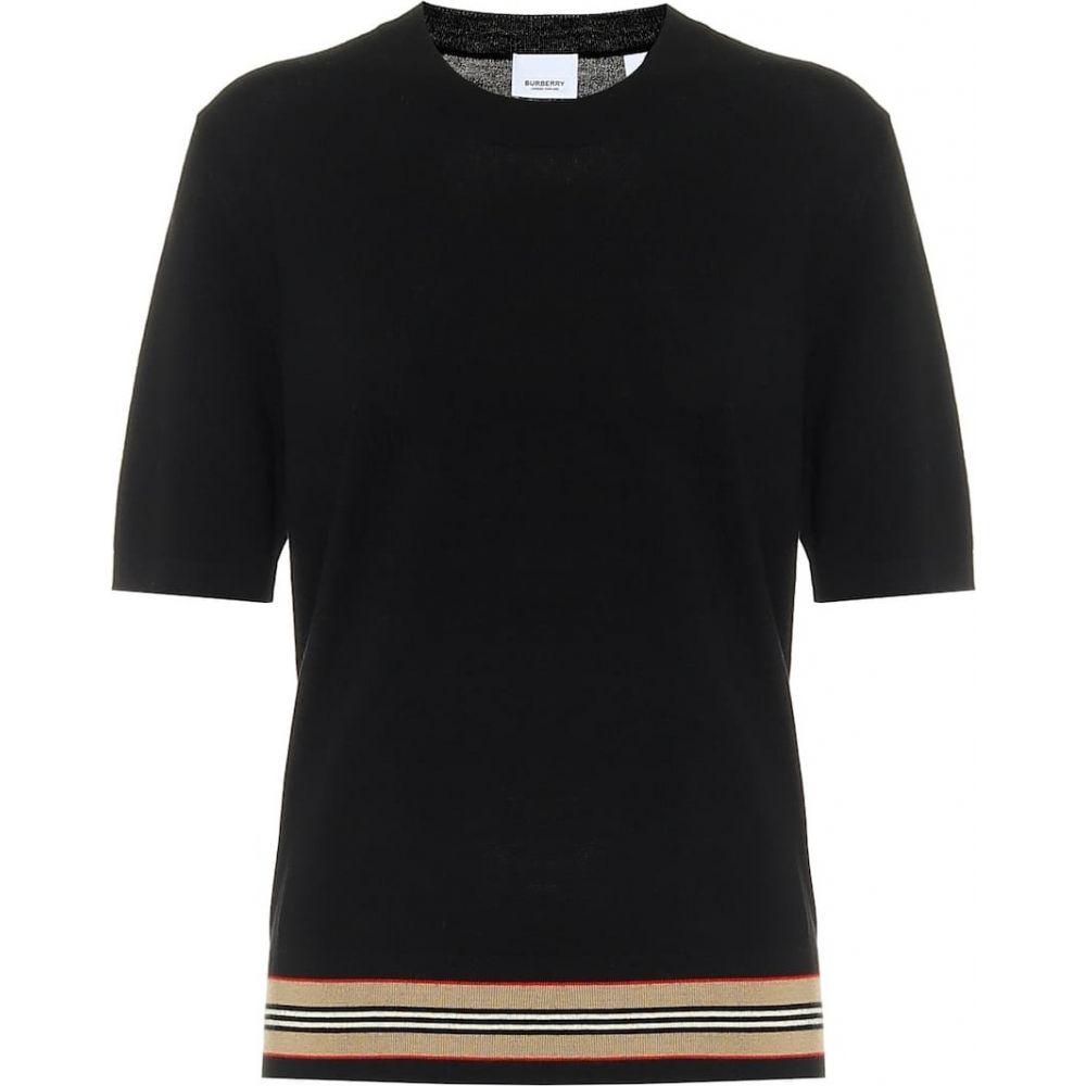 バーバリー Burberry レディース ニット・セーター トップス【Merino-wool sweater】Black