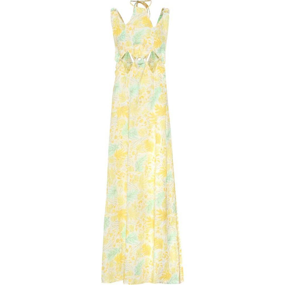 カルト ガイア Cult Gaia レディース ワンピース マキシ丈 ワンピース・ドレス【Sabine floral linen maxi dress】Lemonade Multi