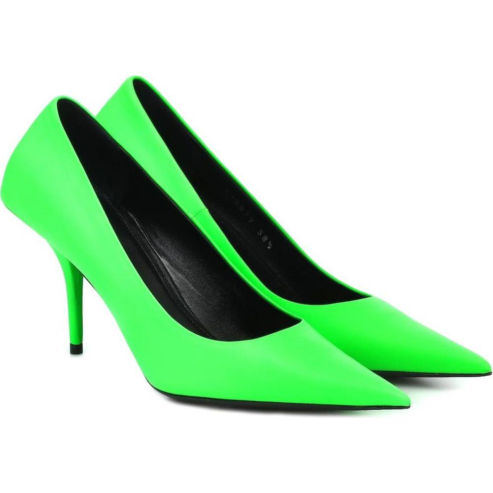 バレンシアガ Balenciaga レディース パンプス シューズ・靴【Square Knife leather pumps】Fluo Green