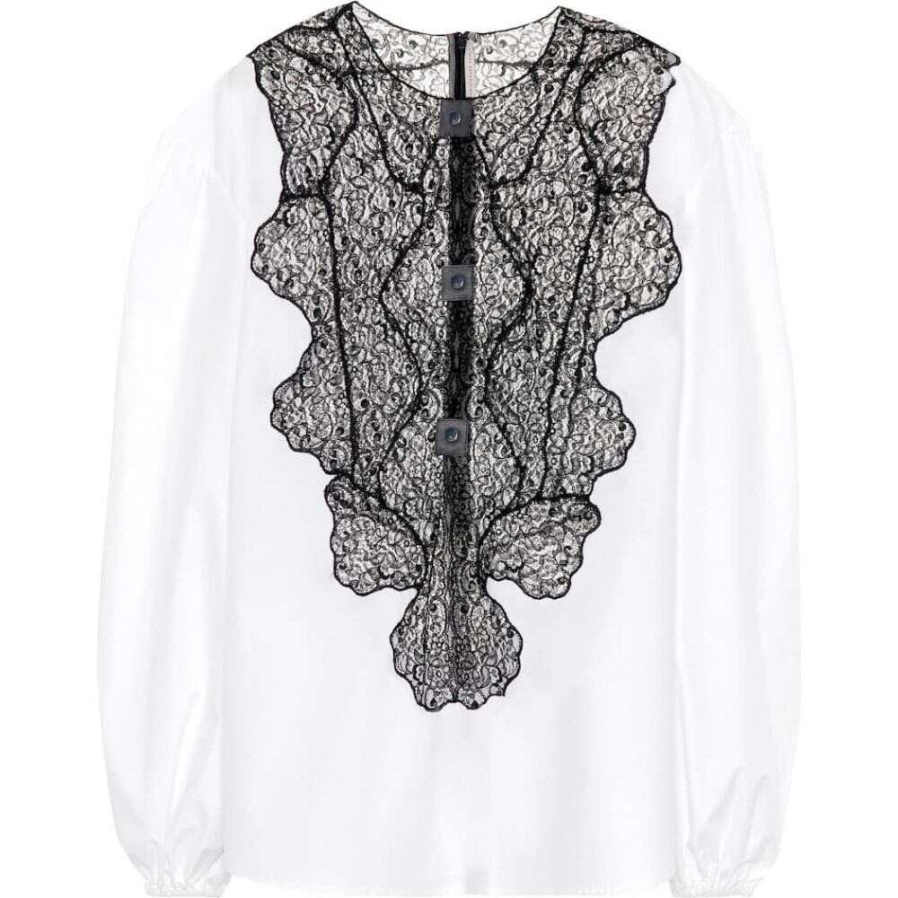 クリストファー ケイン Christopher Kane レディース ブラウス・シャツ トップス【Cotton and lace shirt】White