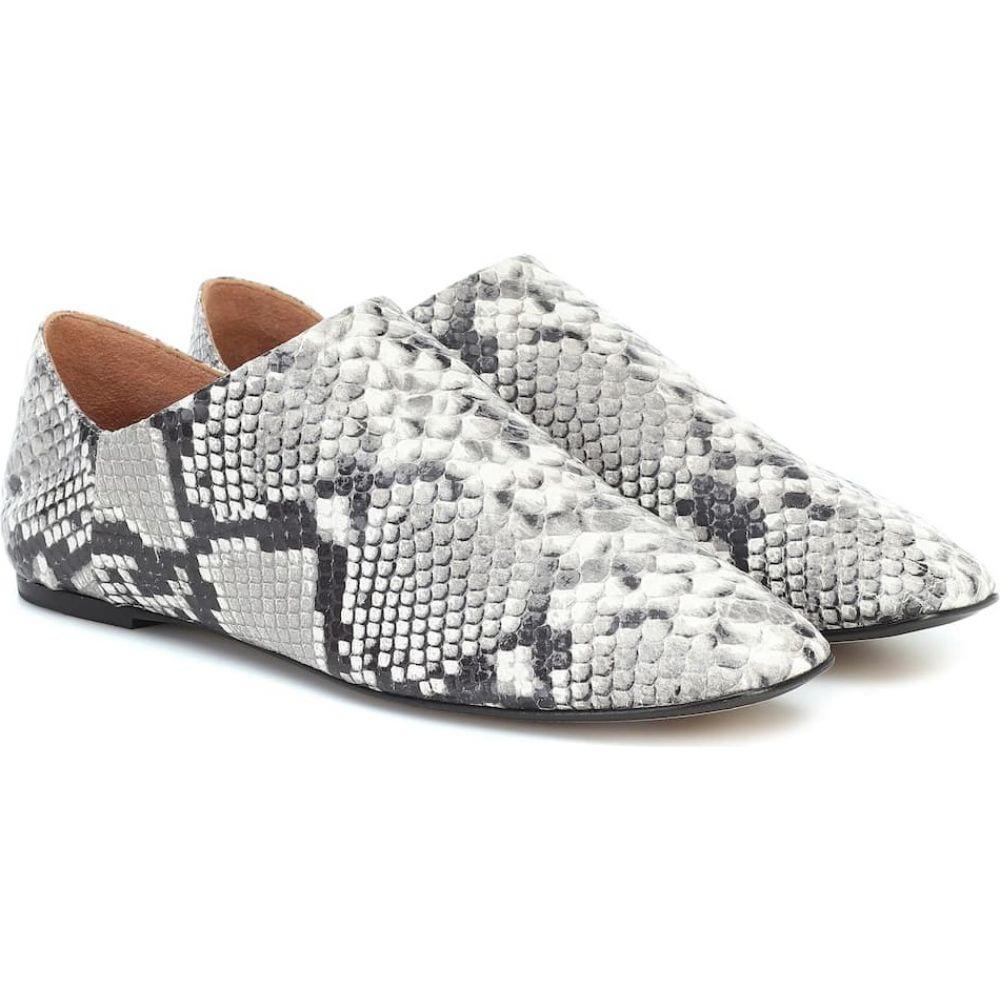 ジョゼフ Joseph レディース スリッポン・フラット シューズ・靴【Snake-effect leather ballet flats】Crusca