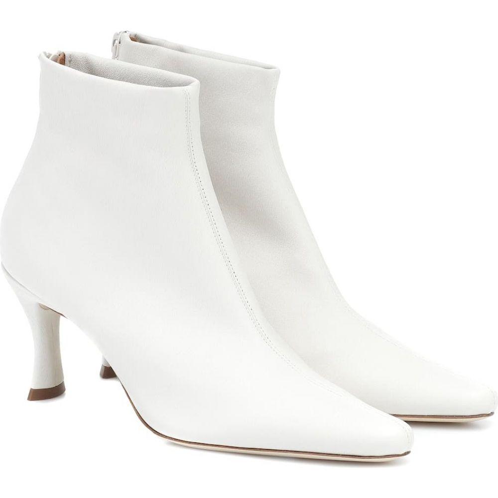 バイ ファー By Far レディース ブーツ ショートブーツ シューズ・靴【Stevie 22 leather ankle boots】White