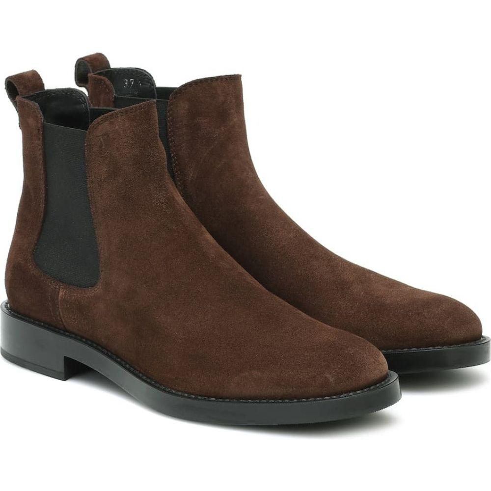トッズ Tod's レディース ブーツ チェルシーブーツ シューズ・靴【Suede Chelsea boots】Marrone Africa
