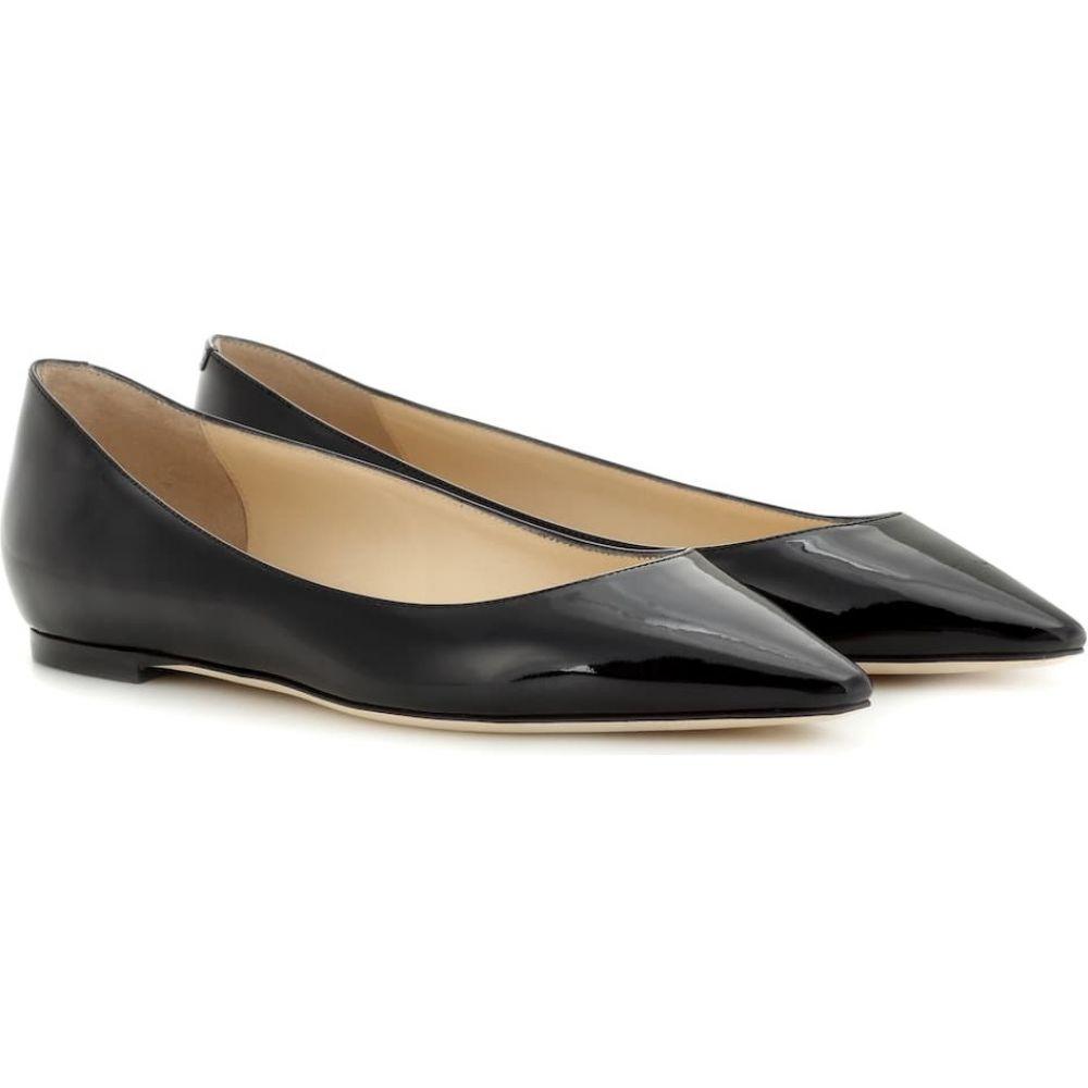 ジミー チュウ Jimmy Choo レディース スリッポン・フラット シューズ・靴【Romy patent leather ballet flats】Black