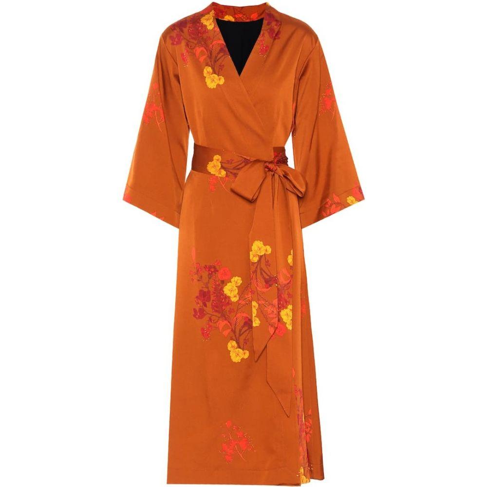 エラリー Ellery レディース ワンピース ラップドレス ワンピース・ドレス【Bishop floral satin wrap dress】Boone XL Bouquet