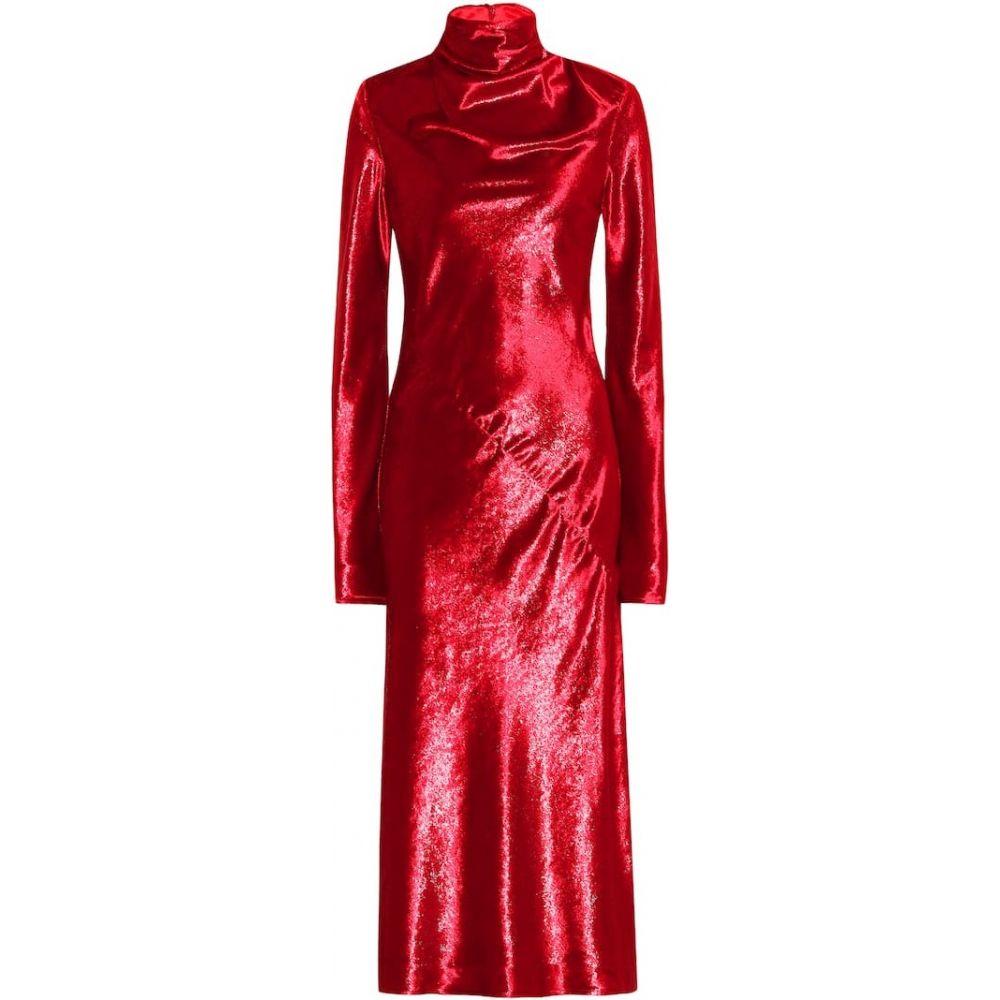 エラリー Ellery レディース ワンピース ミドル丈 ワンピース・ドレス【Gotham velvet midi dress】red