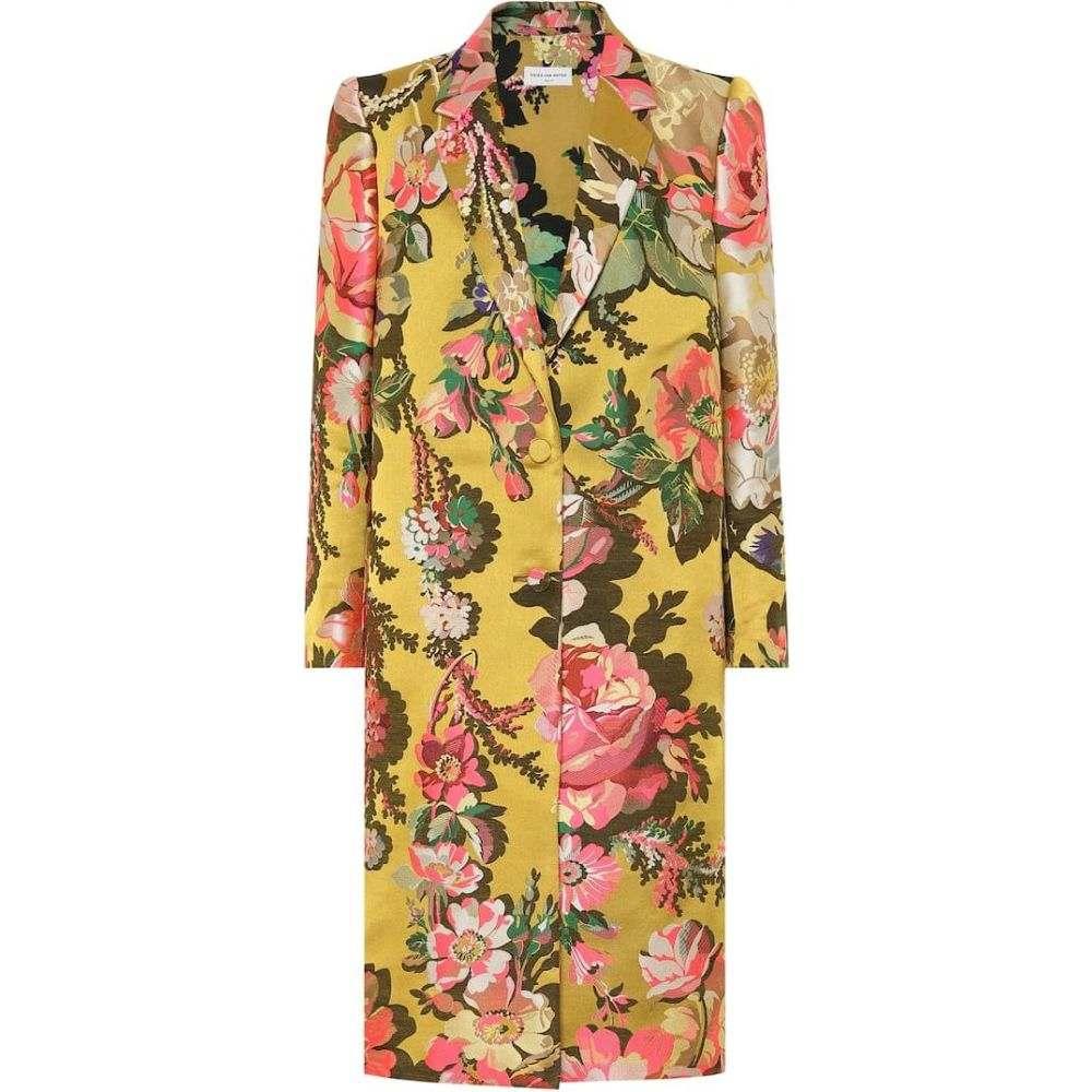 ドリス ヴァン ノッテン Dries Van Noten レディース コート アウター【Floral jacquard coat】Yellow