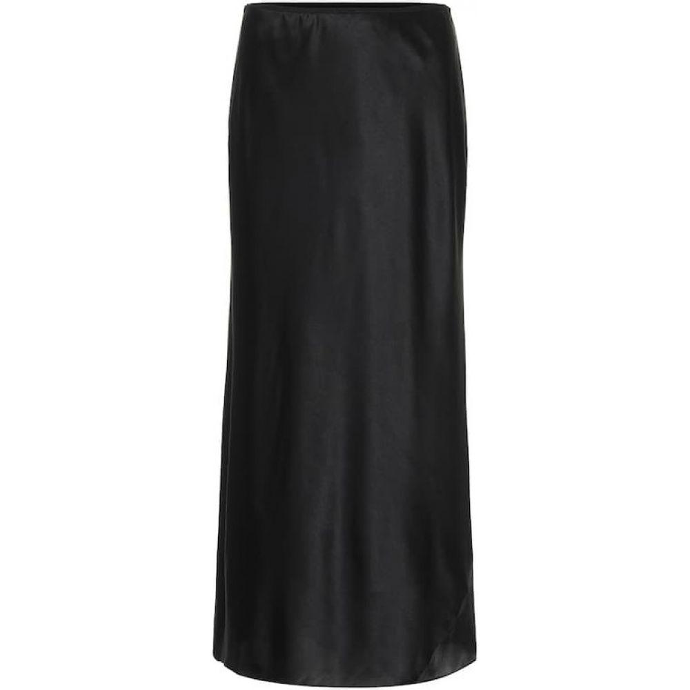 ドロシー シューマッハ Dorothee Schumacher レディース ひざ丈スカート スカート【Sense of Shine satin midi skirt】Pure Black