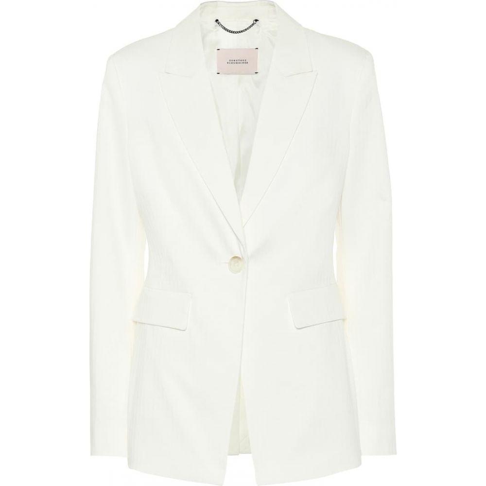 ドロシー シューマッハ Dorothee Schumacher レディース スーツ・ジャケット アウター【Tailored Coolness stretch-cotton blazer】Camellia White