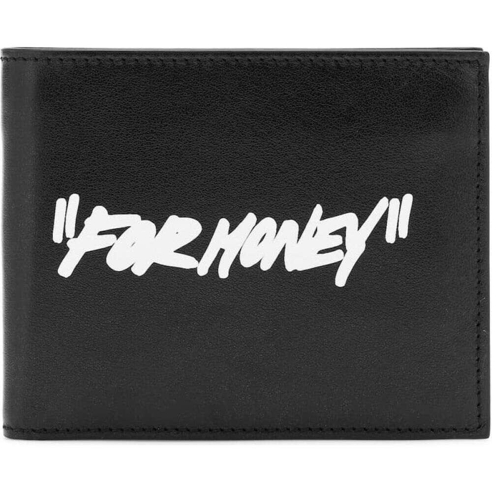 オフホワイト Off-White レディース 財布 【Leather wallet】Black/White
