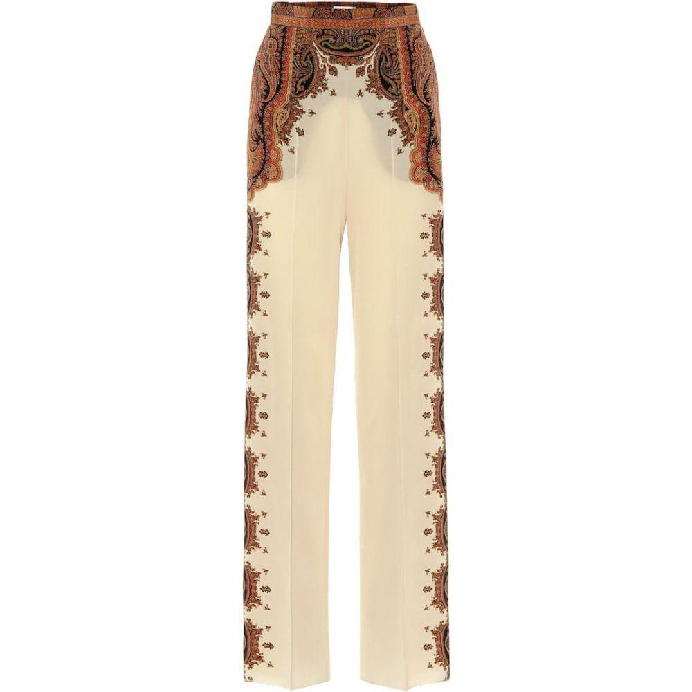 エトロ Etro レディース ボトムス・パンツ 【Wide-leg printed silk pants】