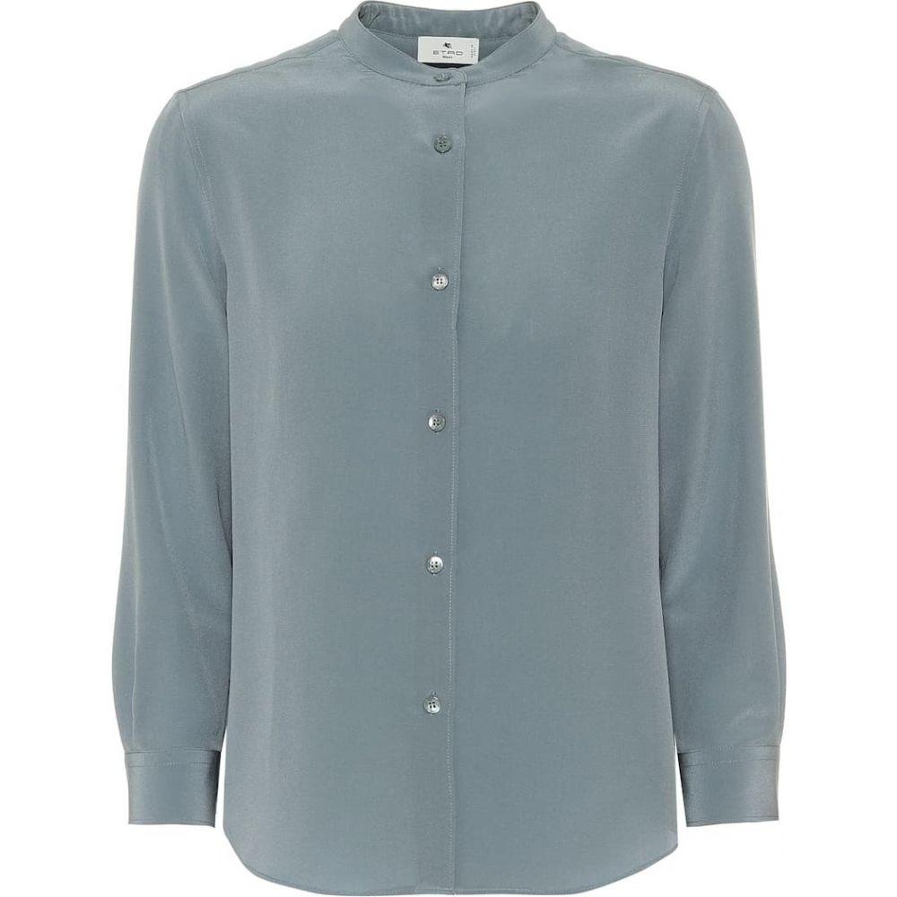 エトロ Etro レディース ブラウス・シャツ トップス【Silk blouse】Pale Blue