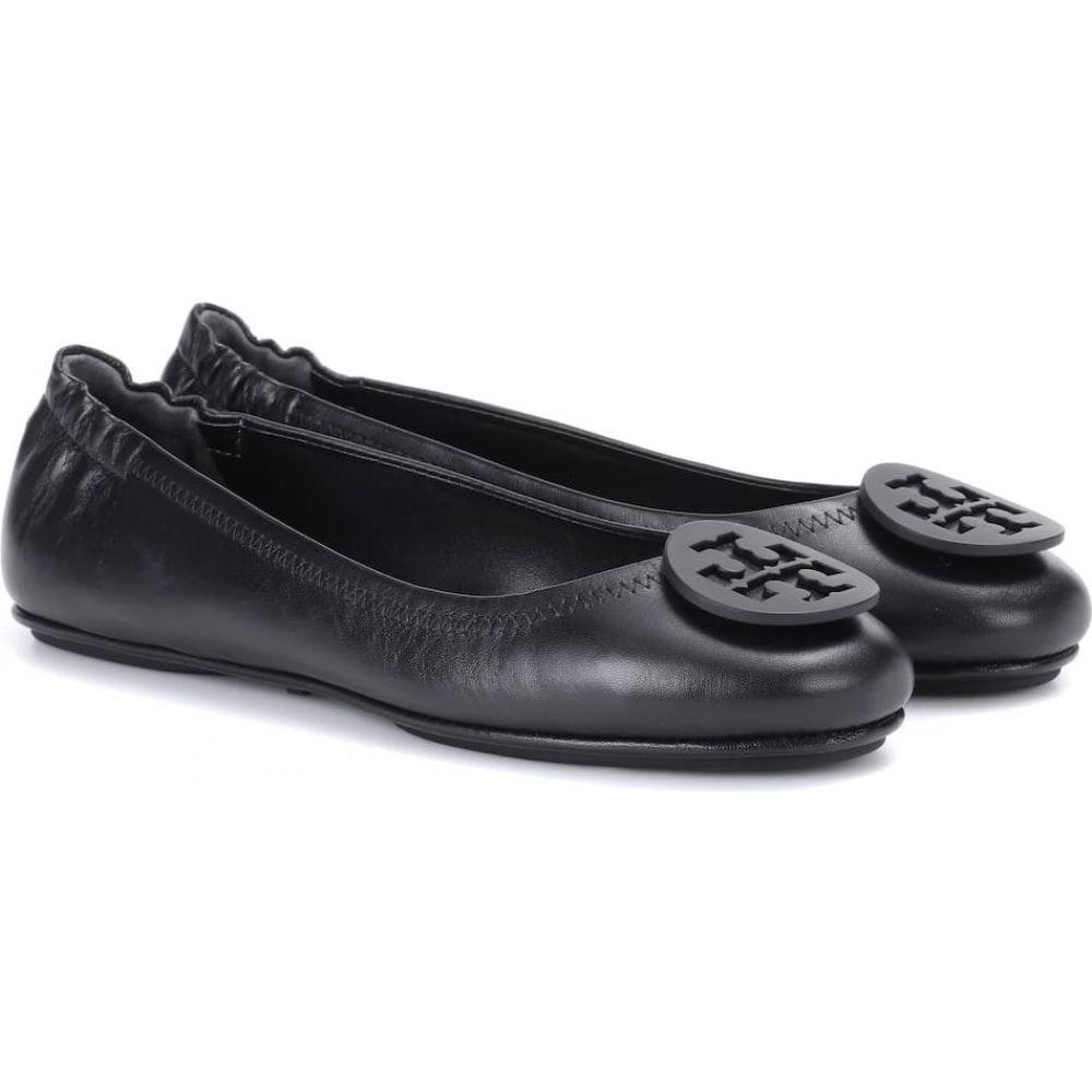 トリー バーチ Tory Burch レディース スリッポン・フラット シューズ・靴【Minnie leather ballet flats】Black