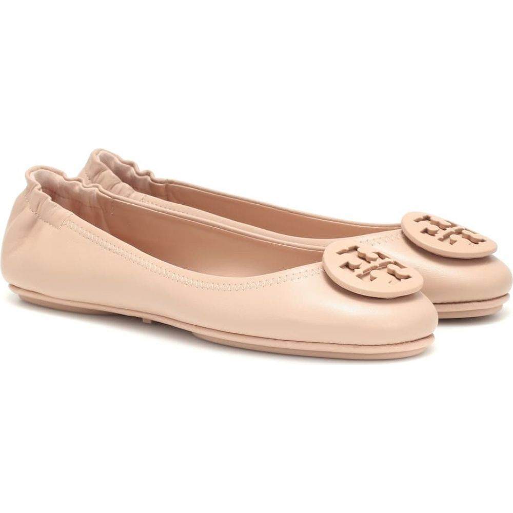 トリー バーチ Tory Burch レディース スリッポン・フラット シューズ・靴【Minnie leather ballet flats】Goan Sand
