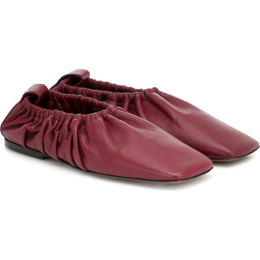 ネオアス Neous レディース スリッポン・フラット シューズ・靴【Phinia leather ballet flats】Burgundy