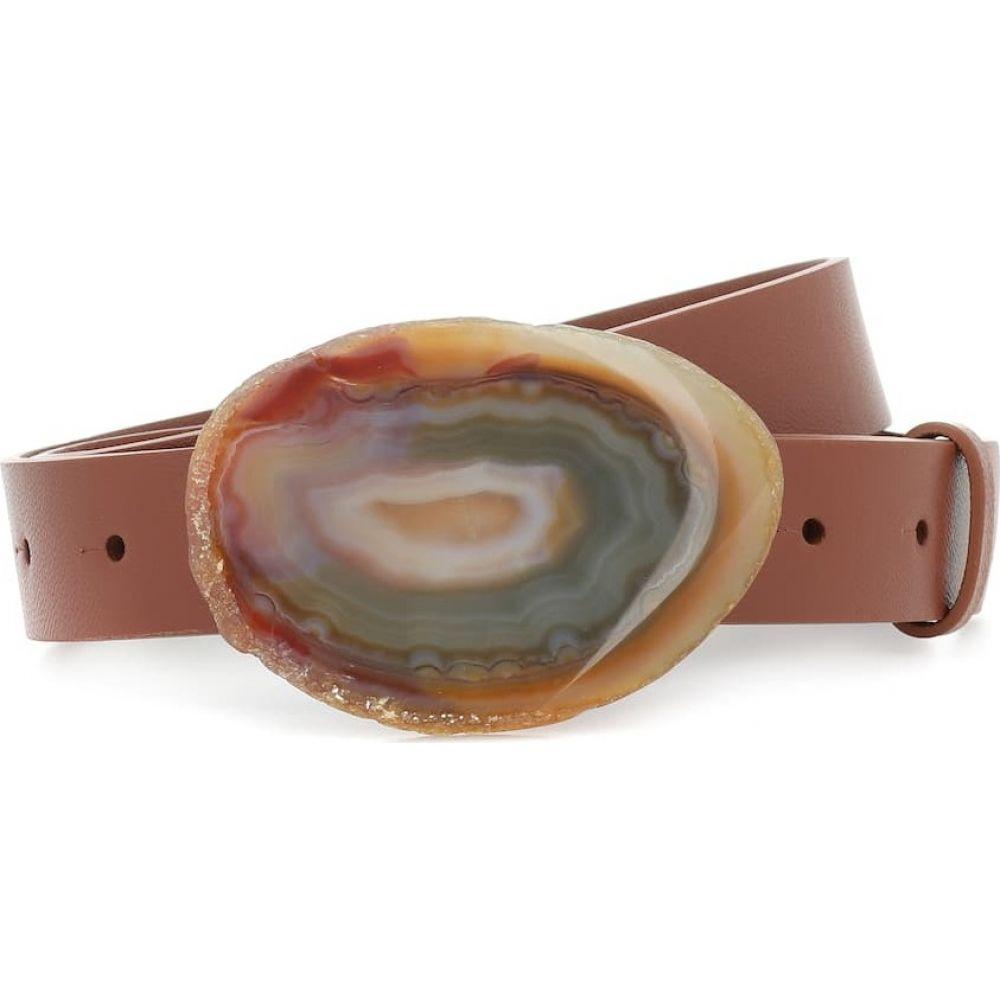 ガブリエラ ハースト Gabriela Hearst レディース ベルト 【Wide Agate leather belt】Cognac/Brown