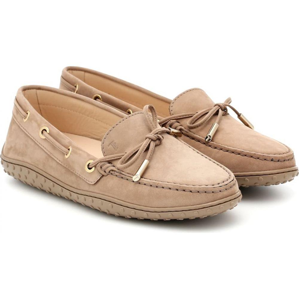 トッズ Tod's レディース ローファー・オックスフォード シューズ・靴【Nubuck moccasins】Tabacco Chiaro