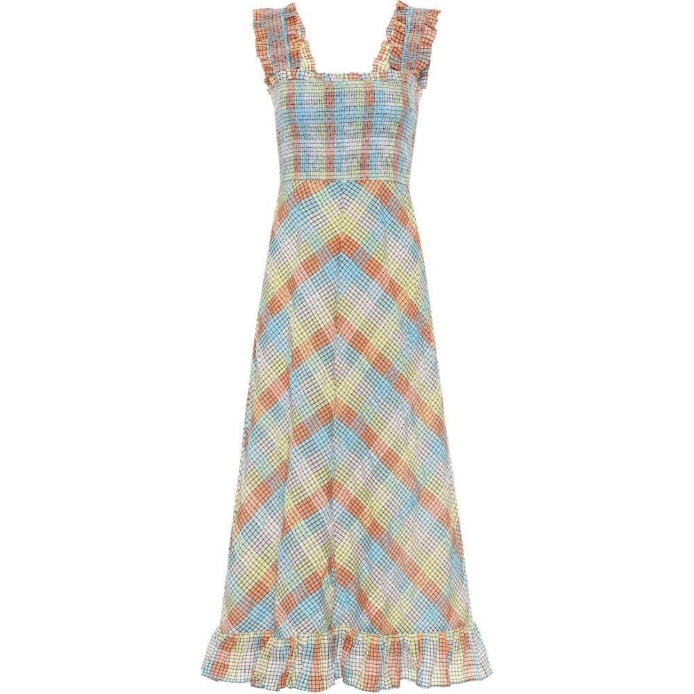 ガニー Ganni レディース ワンピース ワンピース・ドレス【Seersucker cotton-blend dress】Multicolour