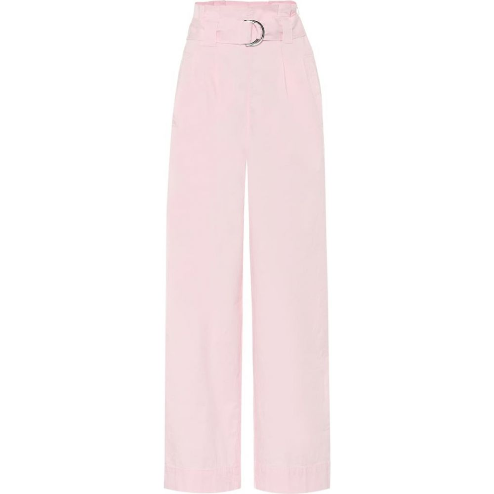 ガニー Ganni レディース ボトムス・パンツ 【Stretch-cotton wide-leg paperbag pants】Cherry Blossom