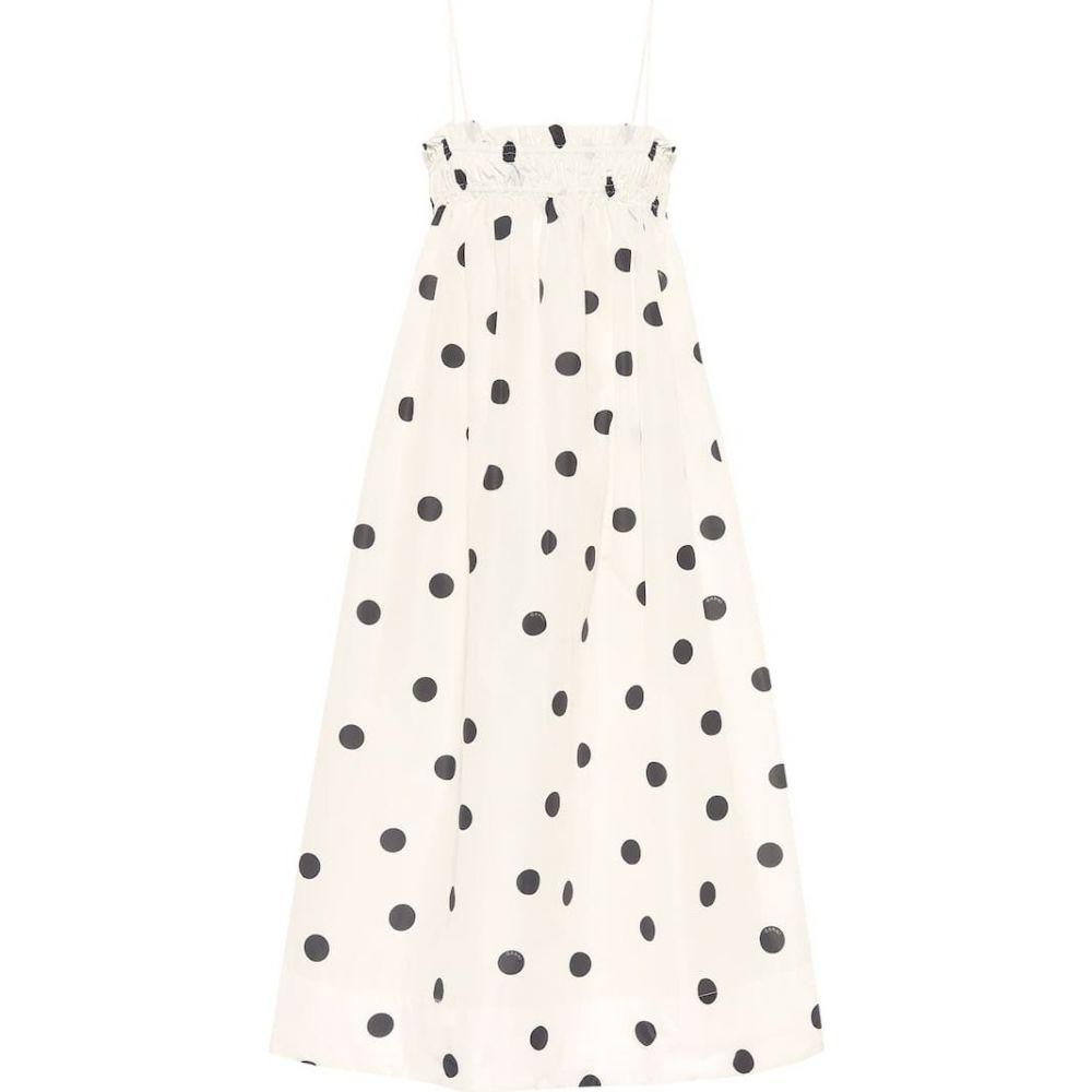 ガニー Ganni レディース ワンピース ワンピース・ドレス【Polka-dot trapeze dress】Egret