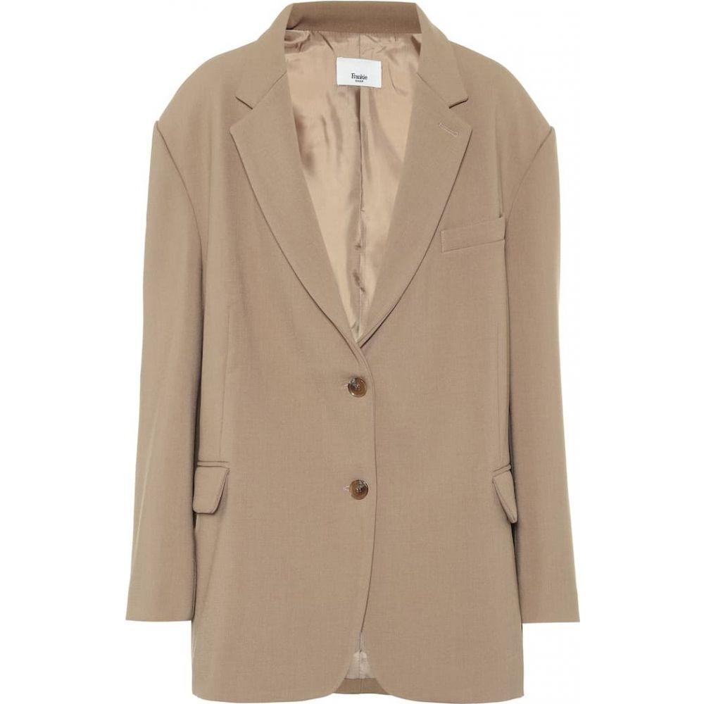 フランキー ショップ Frankie Shop レディース スーツ・ジャケット アウター【Bea stretch-twill blazer】Latte