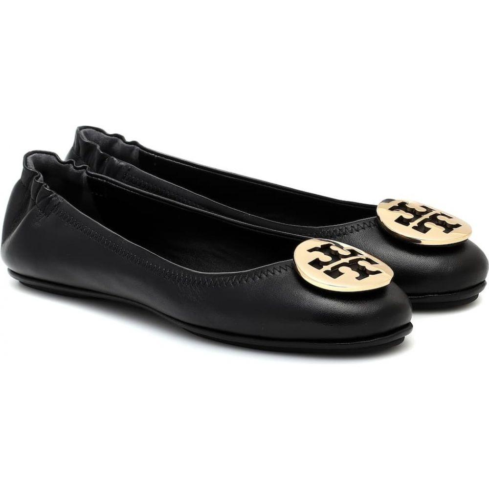 トリー バーチ Tory Burch レディース スリッポン・フラット シューズ・靴【Minnie leather ballet flats】Perfect Black/Gold