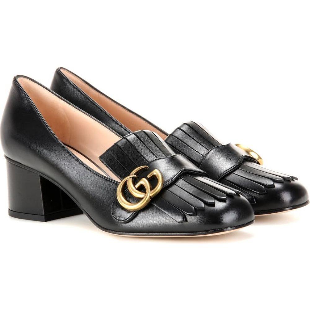 グッチ Gucci レディース パンプス シューズ・靴【Marmont leather loafer pumps】Nero