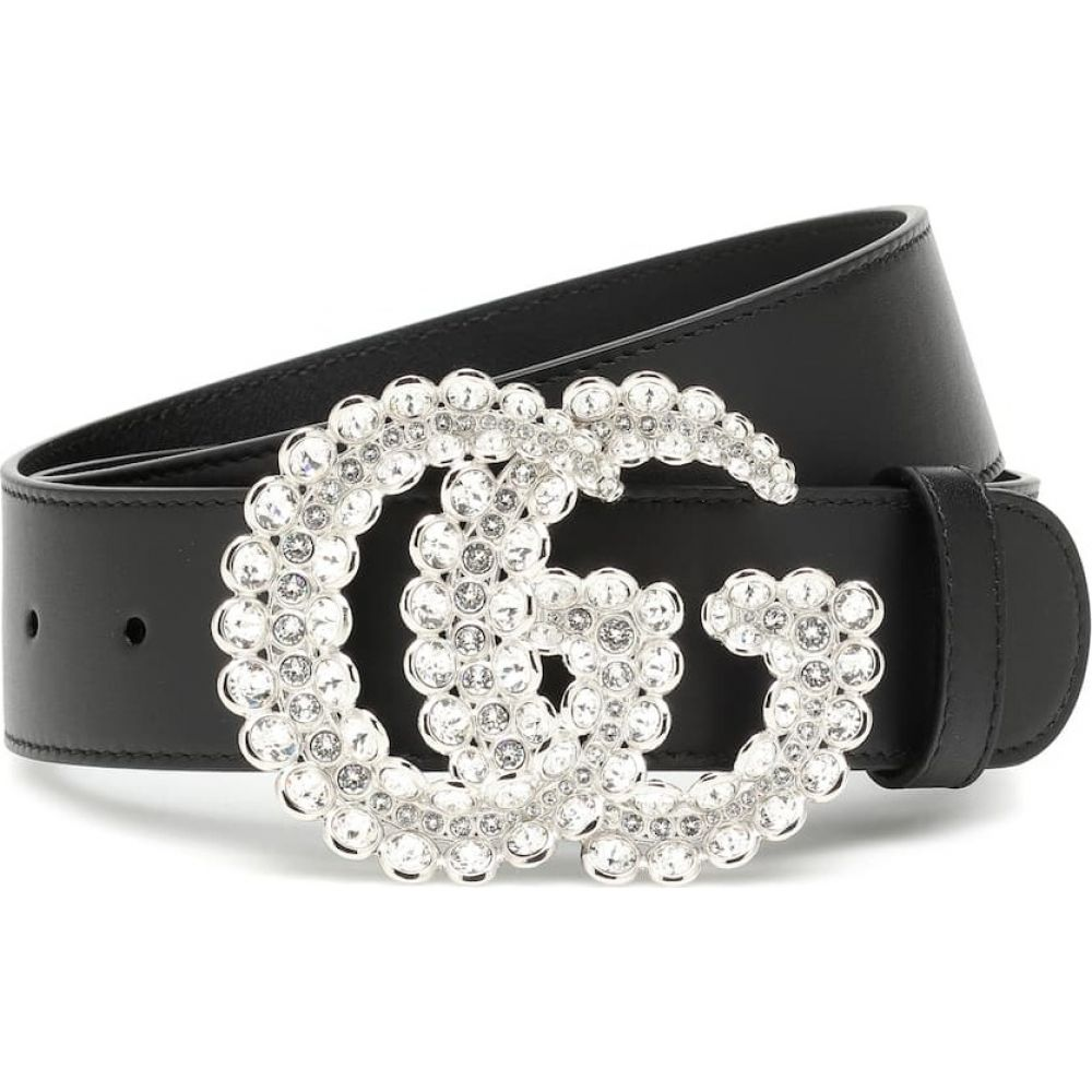 グッチ Gucci レディース ベルト 【GG crystal-embellished leather belt】Nero/Crystal