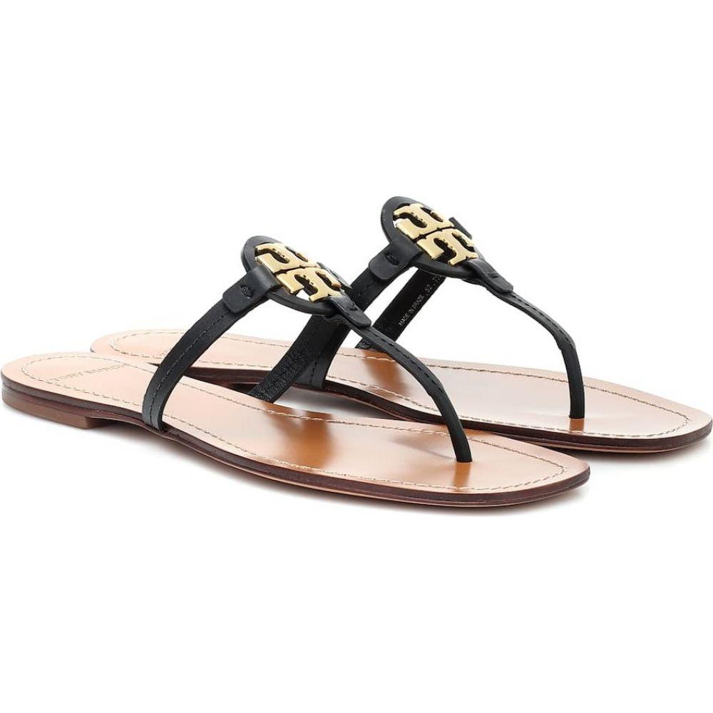 トリー バーチ Tory Burch レディース サンダル・ミュール シューズ・靴【Mini Miller leather thong sandals】Perfect Black