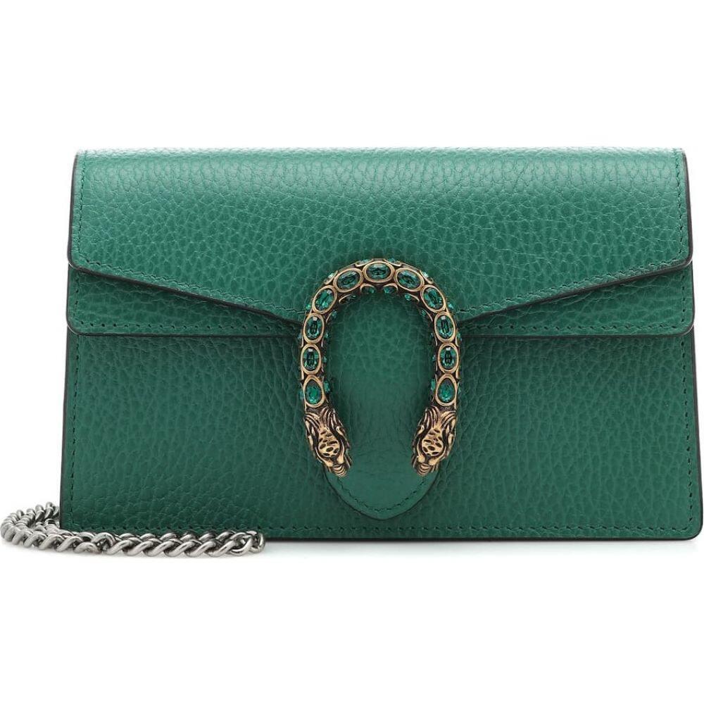 グッチ Gucci レディース ショルダーバッグ バッグ【Dionysus Super Mini crossbody bag】Emerald/Emerald