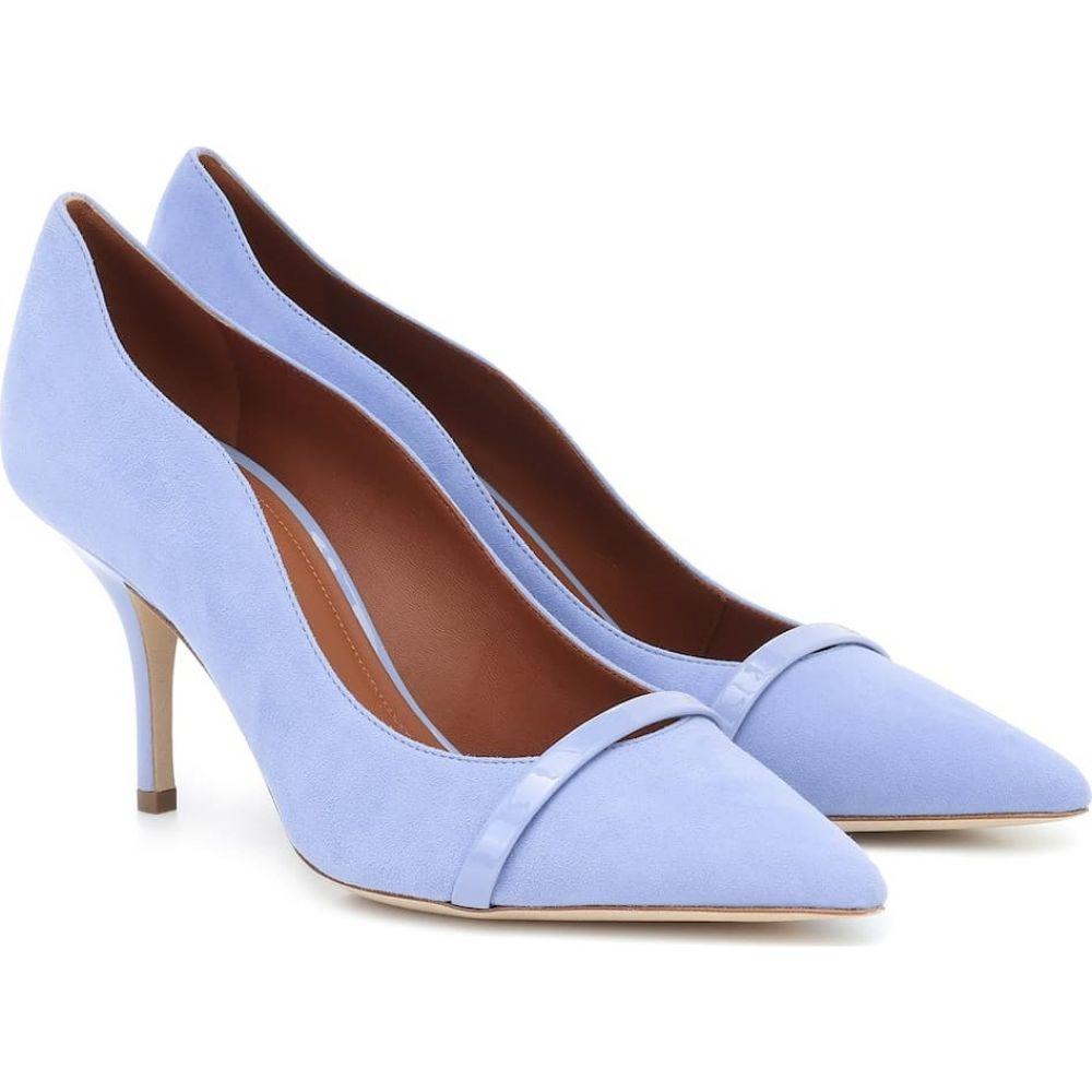 マローンスリアーズ Malone Souliers レディース パンプス シューズ・靴【Maybelle 70 suede pumps】Baby Blue/Baby Blue