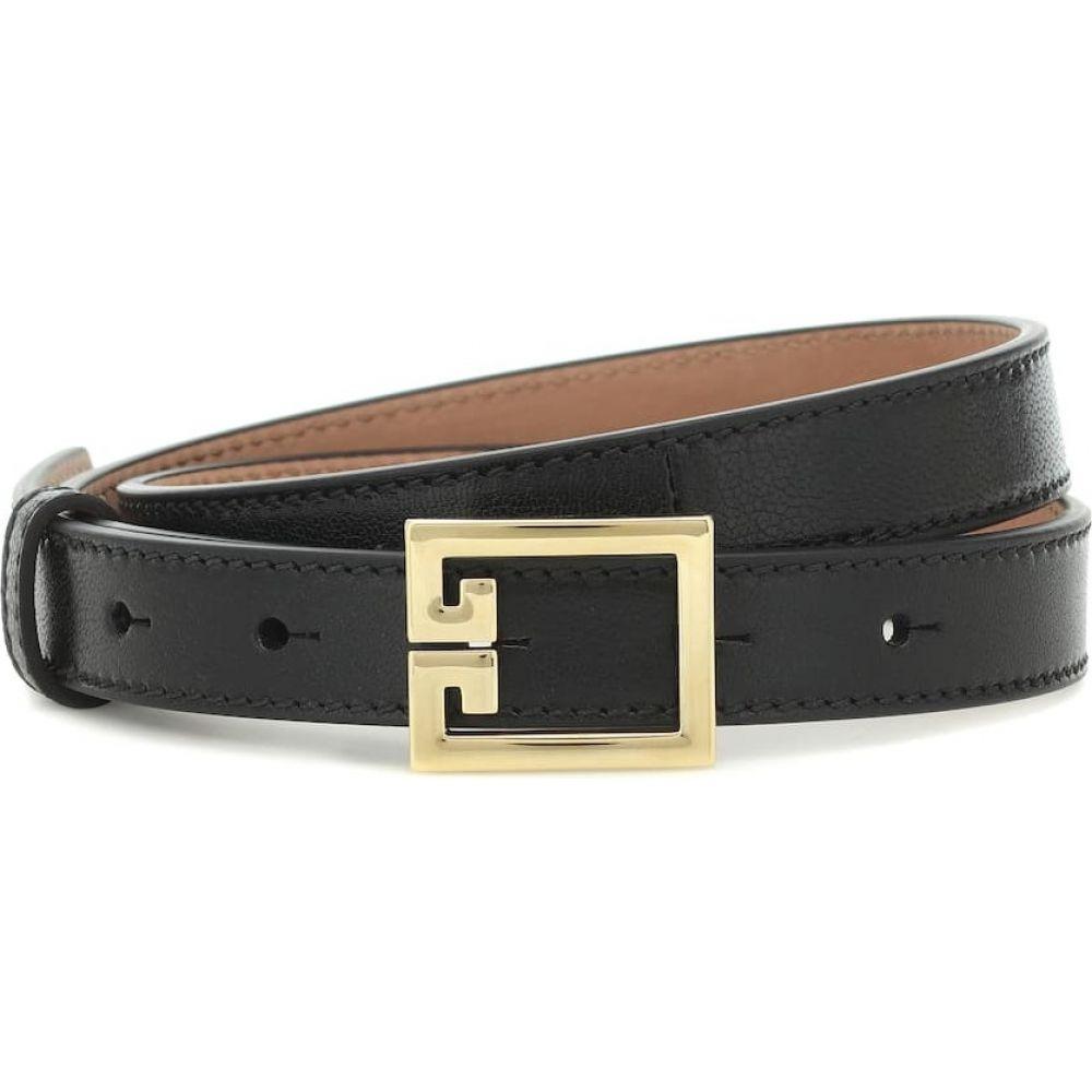 ジバンシー Givenchy レディース ベルト 【Double G leather belt】Black
