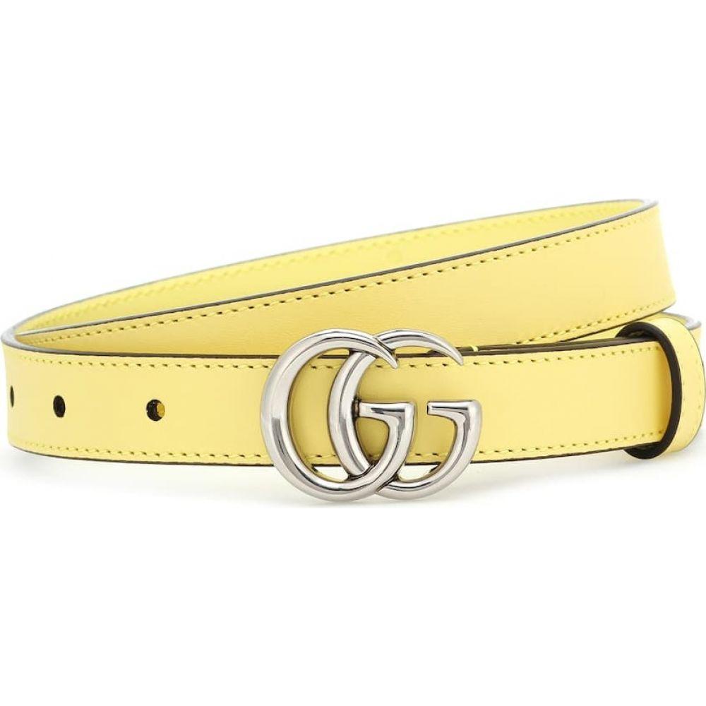 グッチ Gucci レディース ベルト 【GG leather belt】Banana
