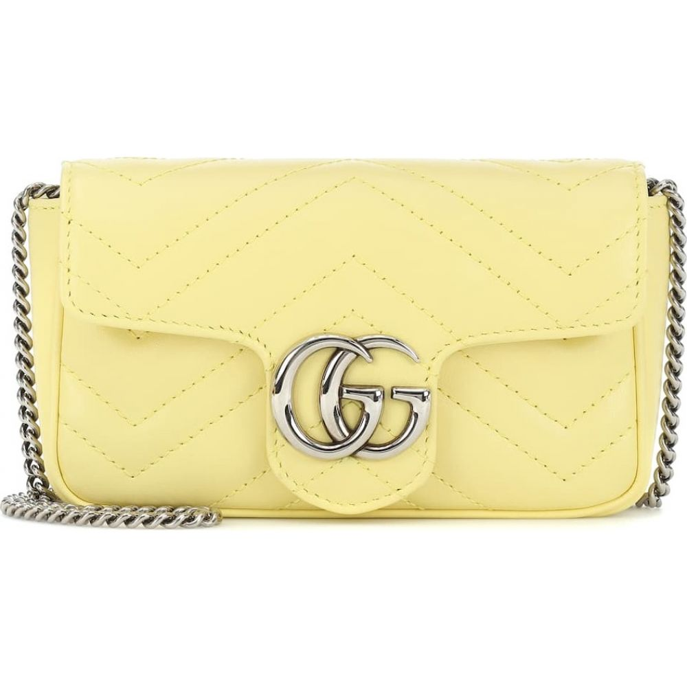 グッチ Gucci レディース ショルダーバッグ バッグ【GG Marmont Super Mini leather shoulder bag】Banana