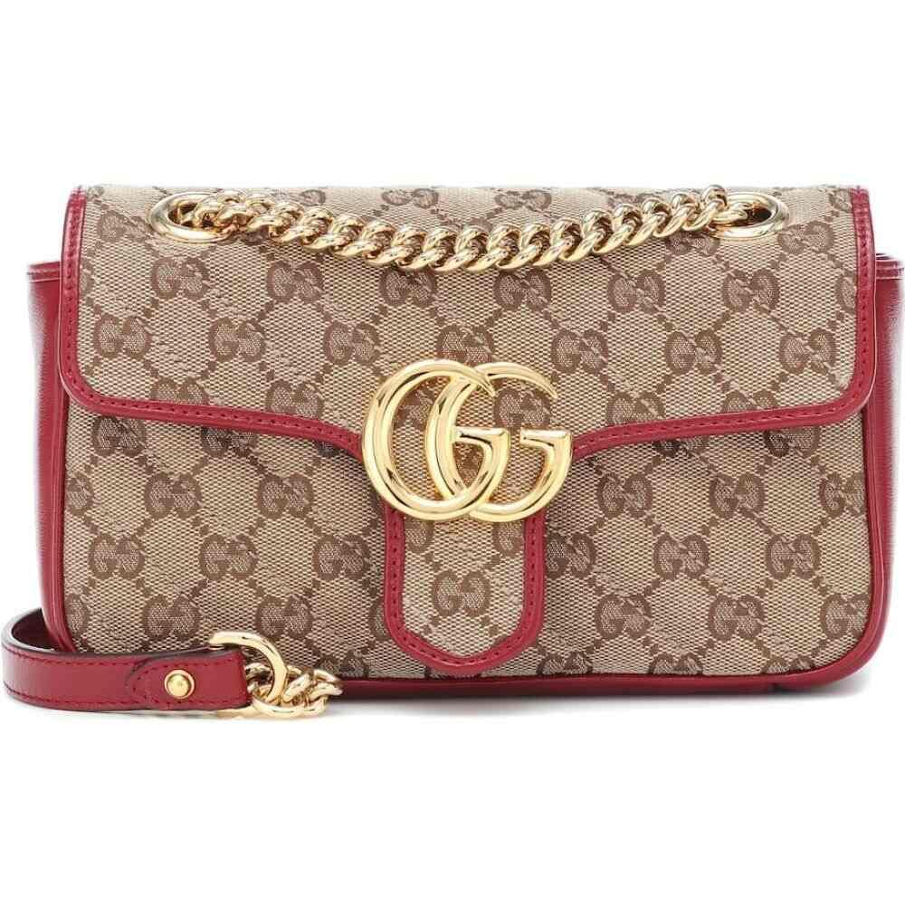 グッチ Gucci レディース ショルダーバッグ バッグ【GG Marmont Mini shoulder bag】B/eb/New Cherry Red