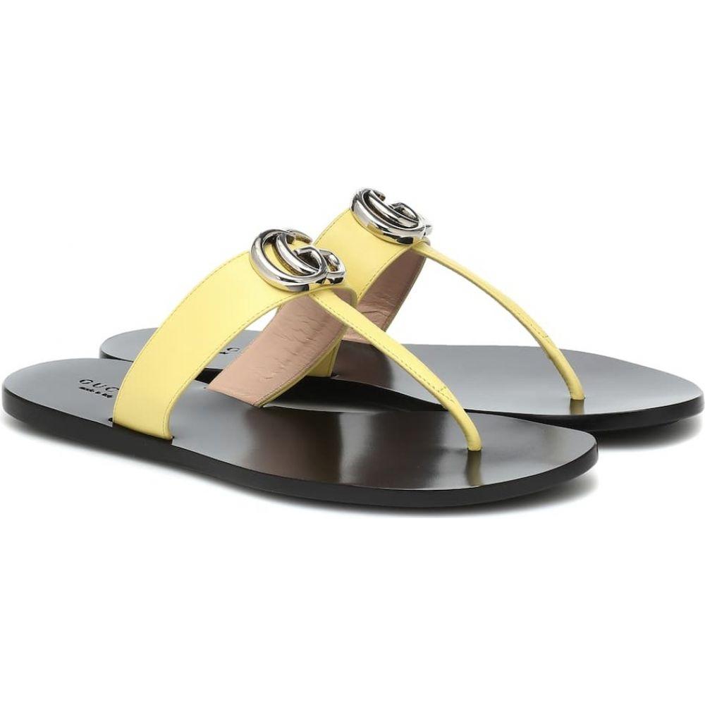 グッチ Gucci レディース サンダル・ミュール シューズ・靴【Marmont leather thong sandals】Banana