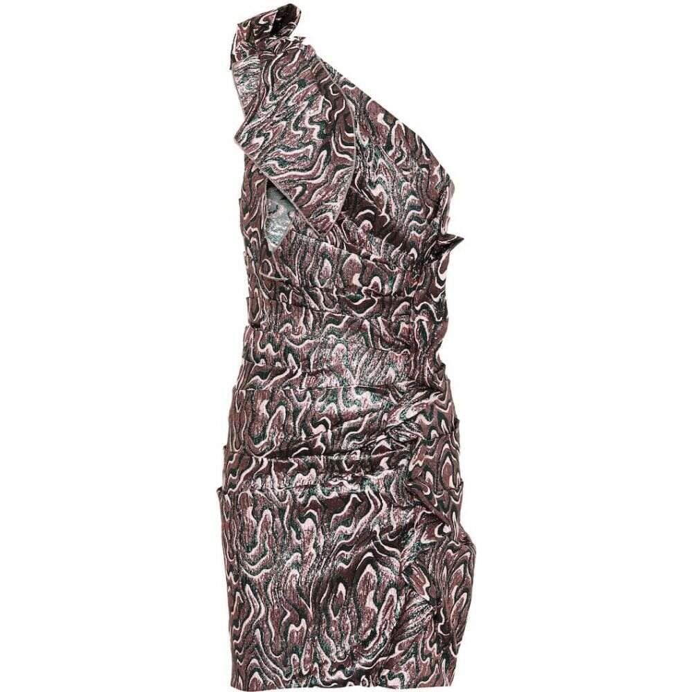 イザベル マラン Isabel Marant レディース ワンピース ワンピース・ドレス【Synee metallic jacquard minidress】Green
