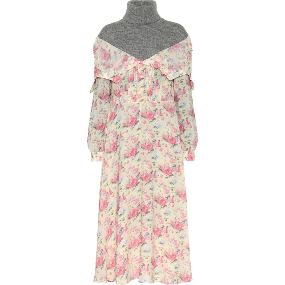 ジュンヤ ワタナベ Junya Watanabe レディース ワンピース ワンピース・ドレス【Layered sweater dress】yellow pink grey