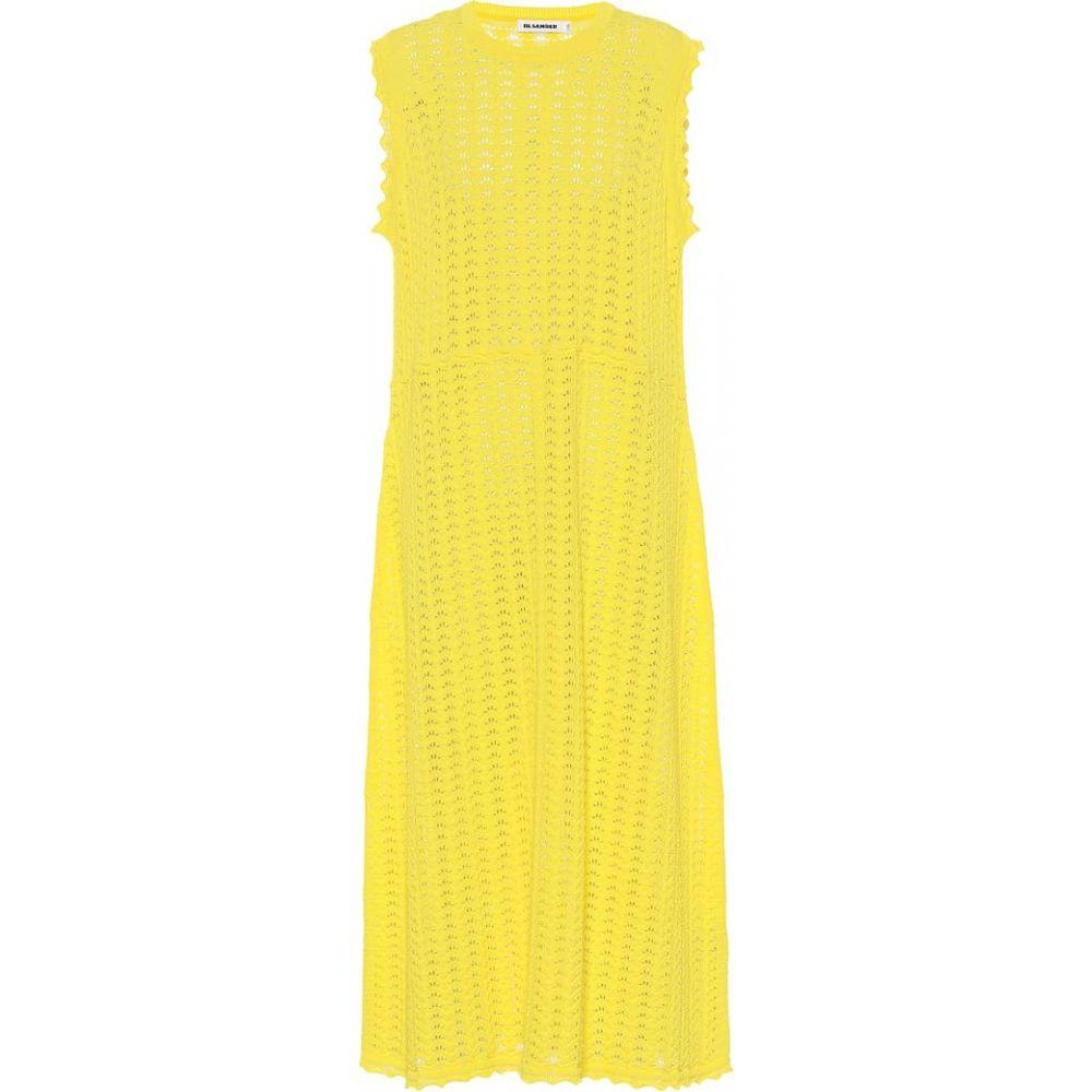 ジル サンダー Jil Sander レディース ワンピース ワンピース・ドレス【Crochet cotton dress】Bright Yellow