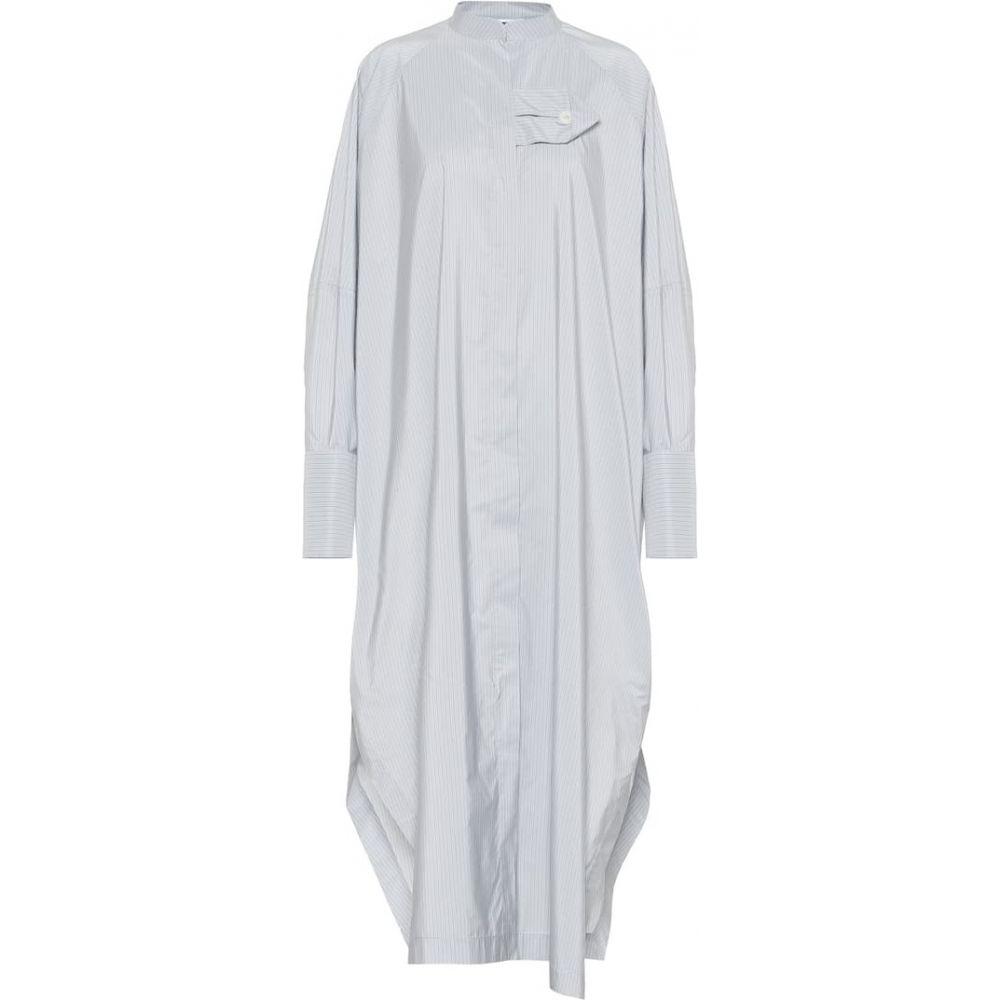 ジル サンダー Jil Sander レディース ワンピース シャツワンピース ワンピース・ドレス【Striped sateen shirt dress】Light/Pastel Blue